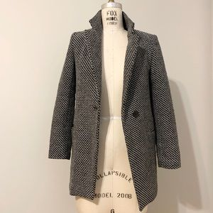 Style Fashion Jackets & Coats - Jacquard Textured Blazer Coat with faux fur lining